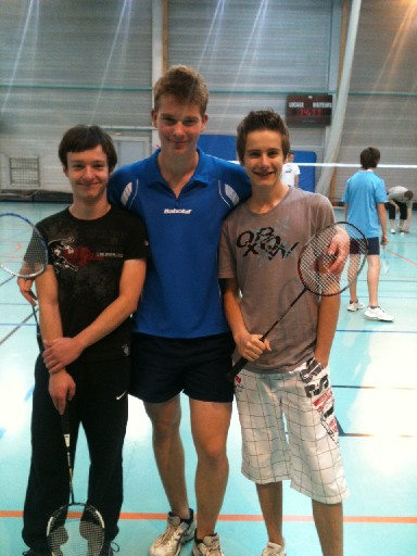 encadrants jeunes badminton